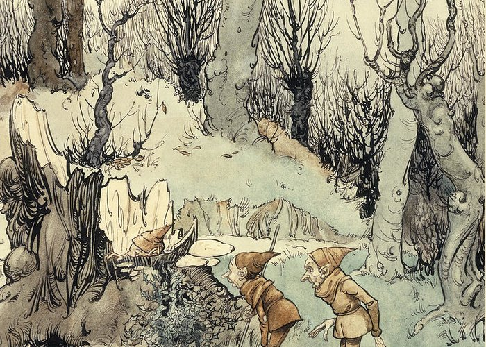 Arthur Greeting Card featuring the painting Elves In A Wood by Arthur Rackham