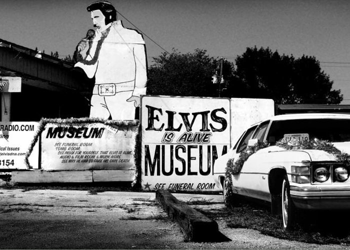 Elvis Greeting Card featuring the photograph Elvis Is Alive Museum by Todd Fox