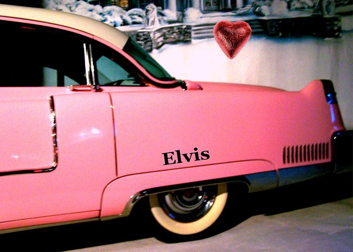 Pink Greeting Card featuring the photograph Elvis's Pink Cadillac by Vijay Sharon Govender