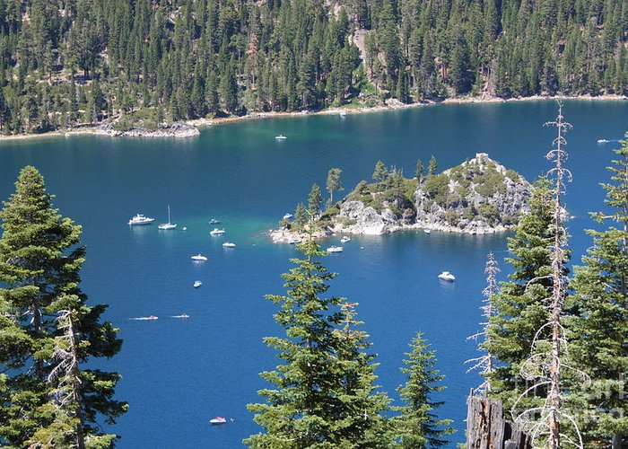 Emerald Bay Greeting Card featuring the photograph Emerald Bay by Carol Groenen