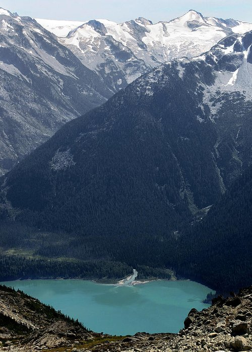 Whistler Greeting Card featuring the photograph Emerald Cheakamus Lake Whistler Canada by Pierre Leclerc Photography
