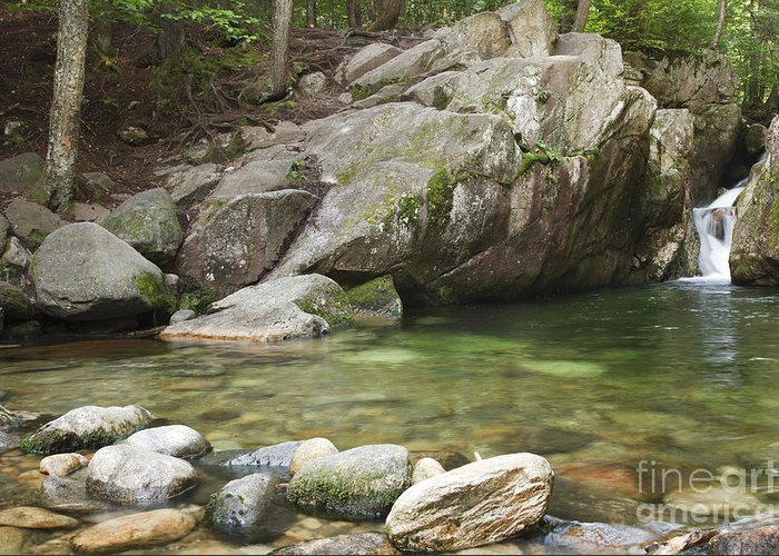 Hike Greeting Card featuring the photograph Emerald Pool - White Mountains New Hampshire Usa by Erin Paul Donovan