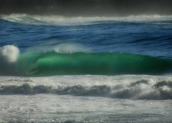 Sea Greeting Card featuring the photograph Emerald Sea by Donna Blackhall