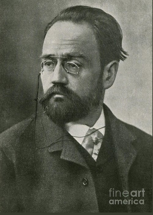 Zola Greeting Card featuring the photograph Emile Zola, French Author by Photo Researchers