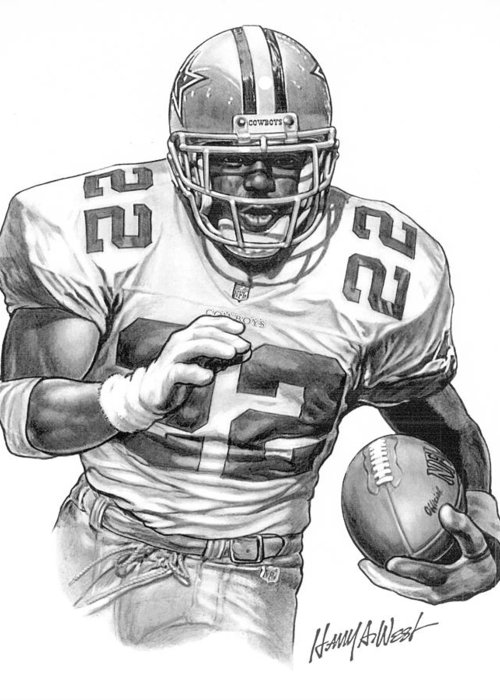 Pro Football Drawings Greeting Cards