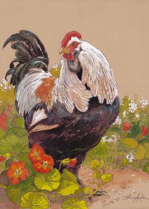 Black Chicken Greeting Cards