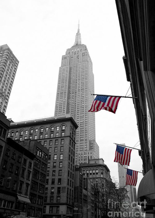 Manhattan Greeting Card featuring the photograph Empire State Building In The Mist by John Farnan
