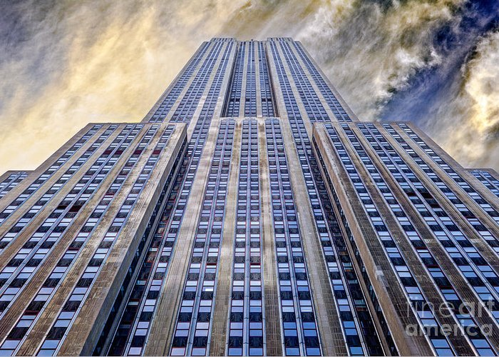 Empire State Building Greeting Card featuring the photograph Empire State Building by John Farnan
