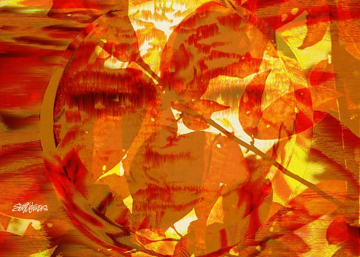 Oriental Greeting Card featuring the digital art Empress Of The Sun by Seth Weaver