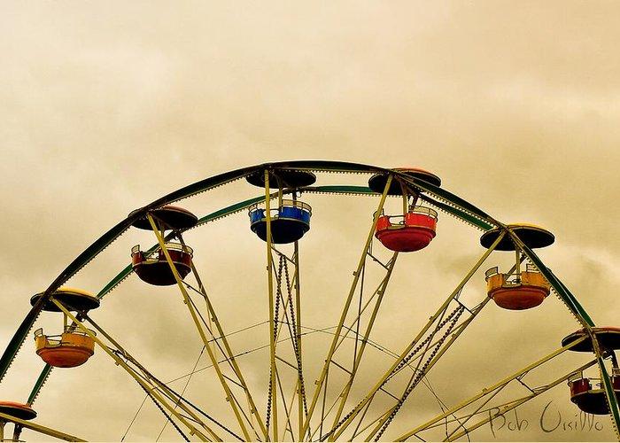 Amusement Park Ride Greeting Cards