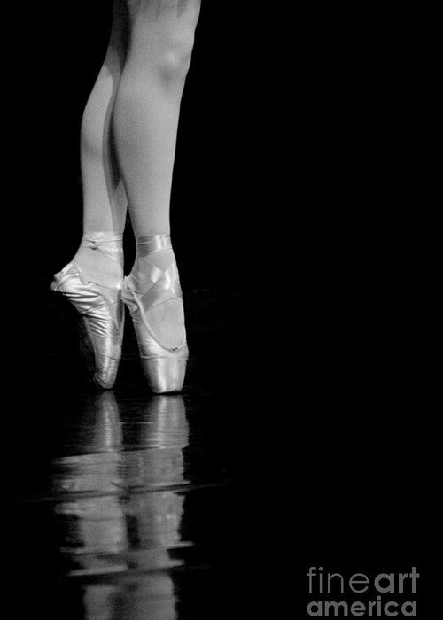 Pointe Greeting Card featuring the photograph En Pointe by Jeannie Burleson