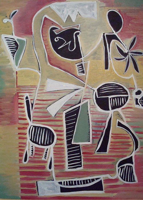Abstract Greeting Card featuring the painting End Cup by W Todd Durrance