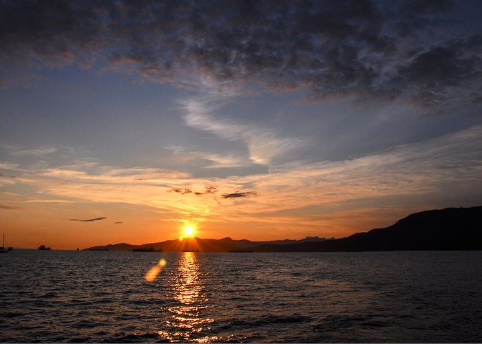 Sunset Greeting Card featuring the photograph End Of Day by Caroline Reyes-Loughrey
