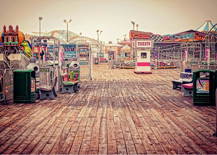 Boardwalk Greeting Card featuring the photograph End Of Summer by Heather Applegate