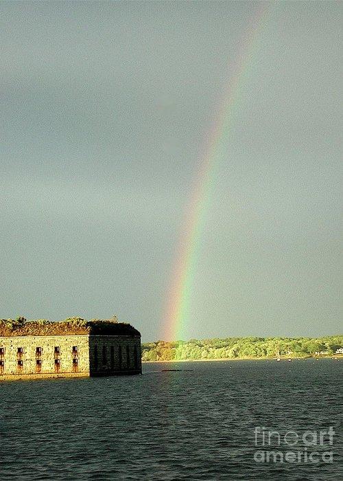 Rainbow Greeting Card featuring the photograph End Of The Rainbow by Faith Harron Boudreau
