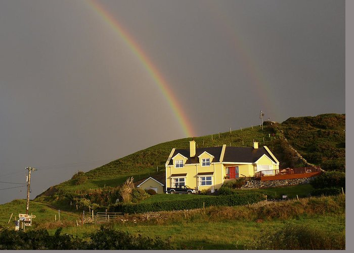 Travel Greeting Card featuring the photograph End Of The Rainbow by Mike McGlothlen