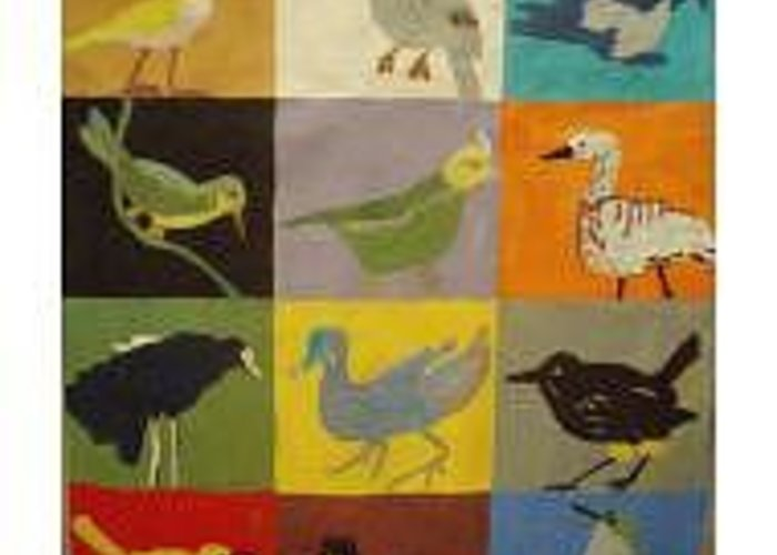 Birds Greeting Card featuring the painting Endangered Birds Of  Kauai by Patrice Tullai