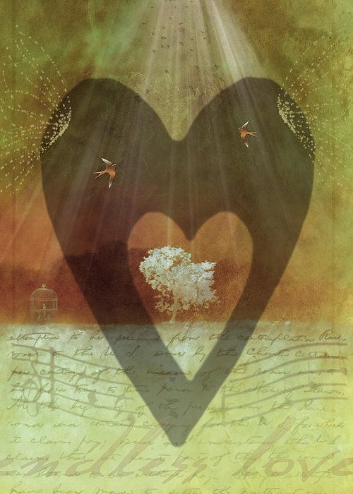 Surrealism Greeting Card featuring the digital art Endless Love by Holly Kempe