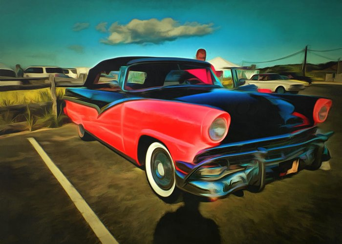 Car Greeting Card featuring the digital art Endless Summer by Jim Nooney