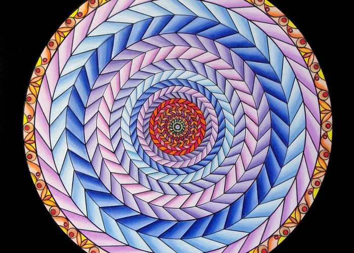 Mandala Greeting Card featuring the painting Energy In Movement by Marcia Lupo