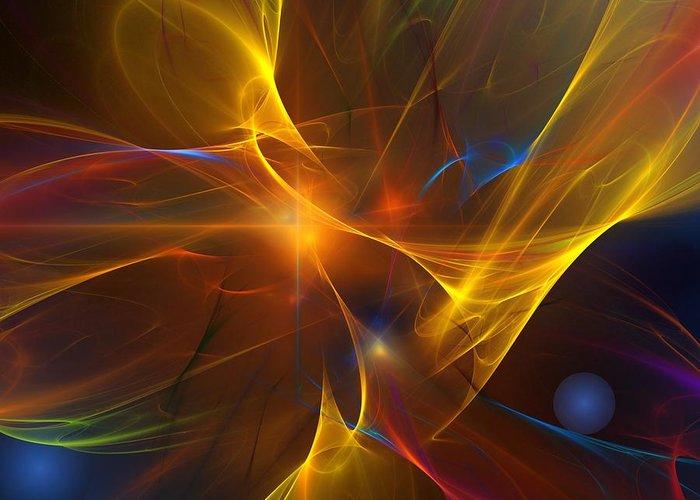 Fractal Greeting Card featuring the digital art Energy Matrix by David Lane
