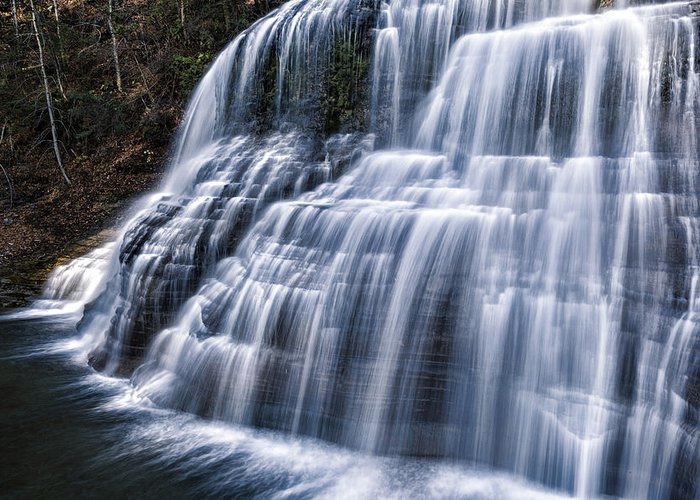 Ithaca Greeting Card featuring the photograph Lower Falls #1 by Stephen Stookey