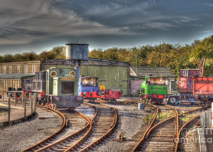 Engines Greeting Card featuring the photograph Engine Sheds Quainton Road Buckinghamshire Railway by Chris Thaxter
