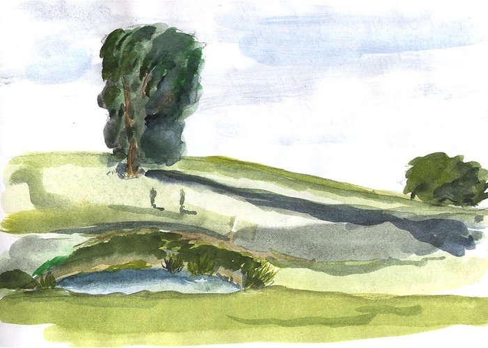 Kevin Callahan Greeting Card featuring the painting English Countryside by Kevin Callahan