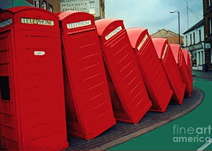 English Domino Effect Greeting Card featuring the photograph English Domino Effect by Sarah Loft