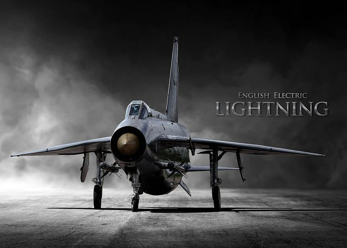 english electric lightning greeting card