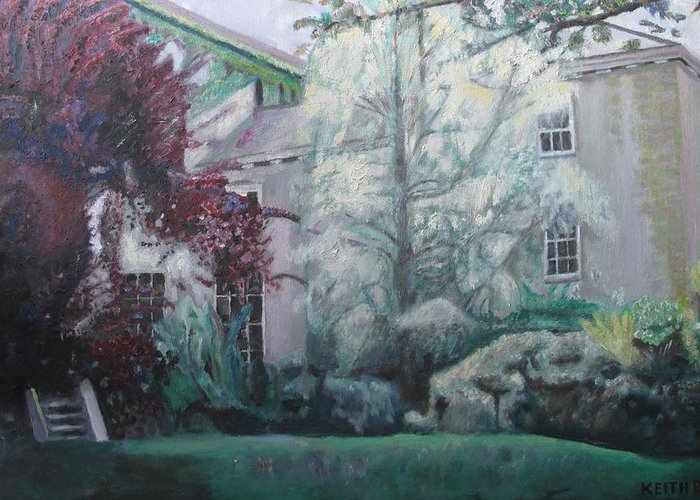 English Greeting Card featuring the painting English Estate by Keith Bagg