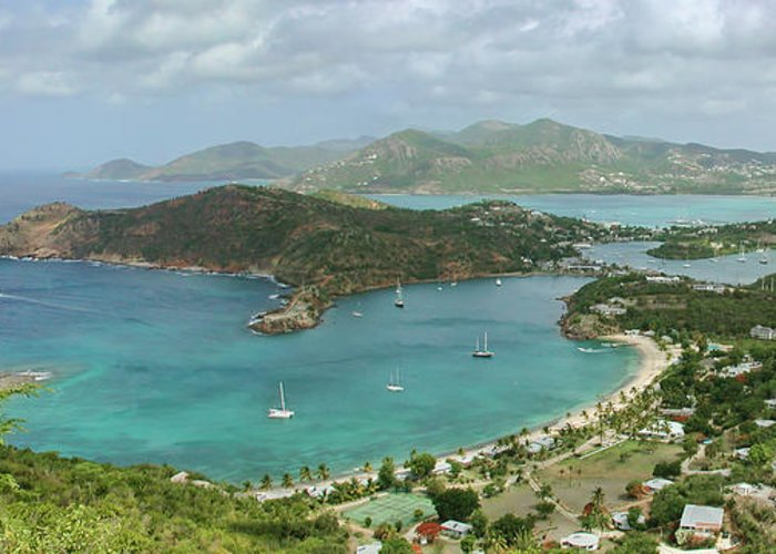 Antigua Greeting Card featuring the photograph English Harbour Antigua by John Edwards