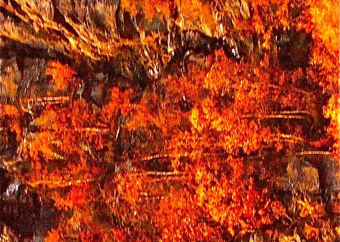 Abstraction Greeting Card featuring the photograph Enigma Orange by Chris Riley