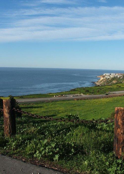 Ocean Greeting Card featuring the photograph Enjoying The View by Shari Chavira