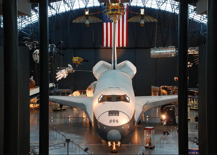 Enterprise Space Shuttle Photographs Greeting Card featuring the photograph Enterprise Space Shuttle by Renee Holder