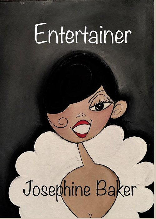 Josephine Baker Greeting Card featuring the painting Entertainer by Deborah Carrie