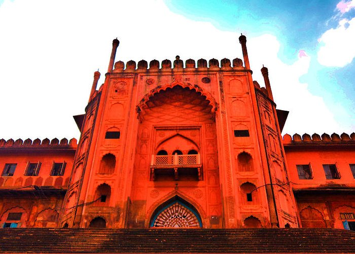 Architecture Greeting Card featuring the photograph #Entrance Gate by Aakash Pandit