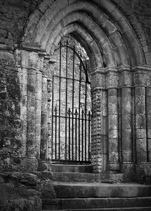 Irish Greeting Card featuring the photograph Entrance to Cong Abbey Cong Ireland by Teresa Mucha