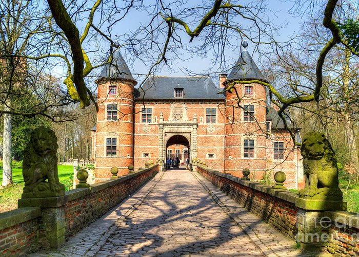 Bijgaarden Greeting Card featuring the photograph Entrance To The Castle, Belgium by Sinisa CIGLENECKI
