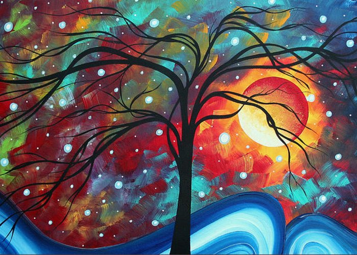 Original Greeting Card featuring the painting Envision The Beauty By Madart by Megan Duncanson