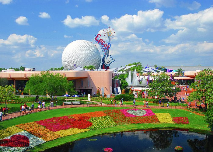 Epcot Center Greeting Cards