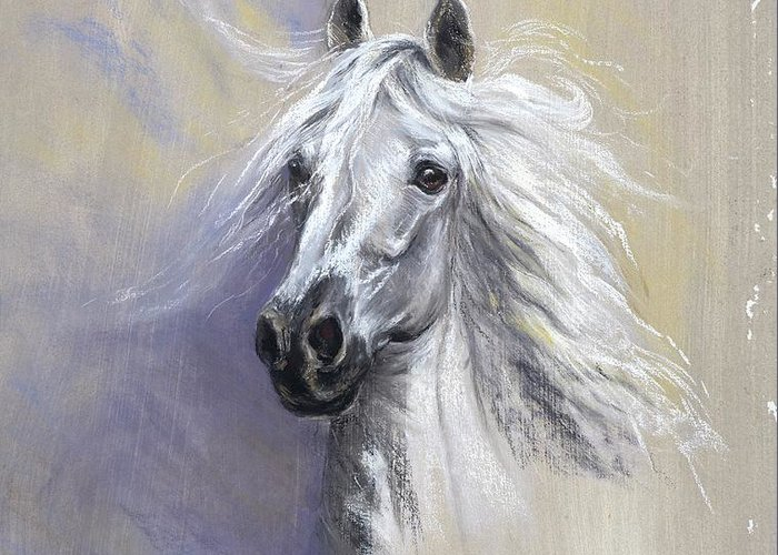 Horse Greeting Card featuring the painting Epona by Kathryn Dalziel