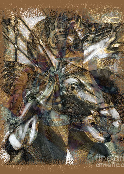 Horse Greeting Card featuring the digital art Equus by Chuck Brittenham