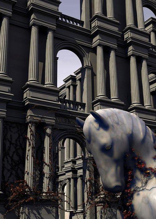Horse Greeting Card featuring the digital art Eqvvs Iv by Mariusz Loszakiewicz