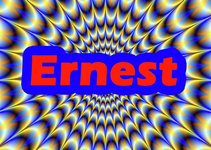 Men Greeting Card featuring the digital art Ernest by Mitchell Watrous