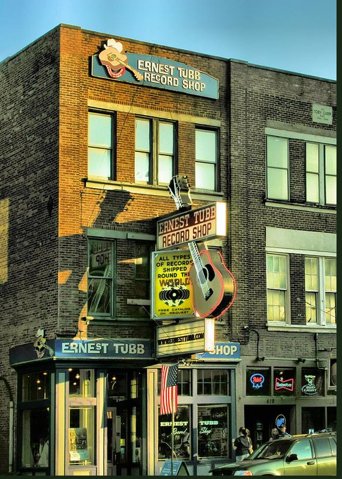 Records Greeting Card featuring the photograph Ernest Tubbs Record Store by Steven Ainsworth