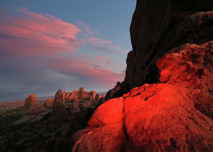 Rock Greeting Card featuring the photograph Erocktic by Jerry LoFaro