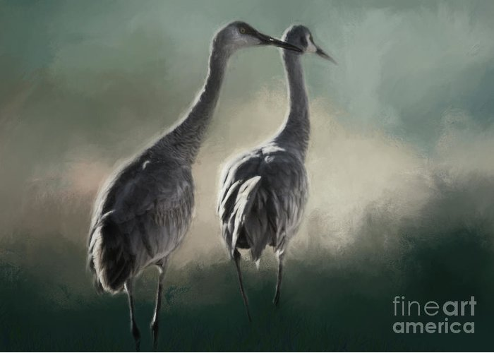 Nature Greeting Card featuring the photograph Escalante Sandhill Cranes by Janice Pariza