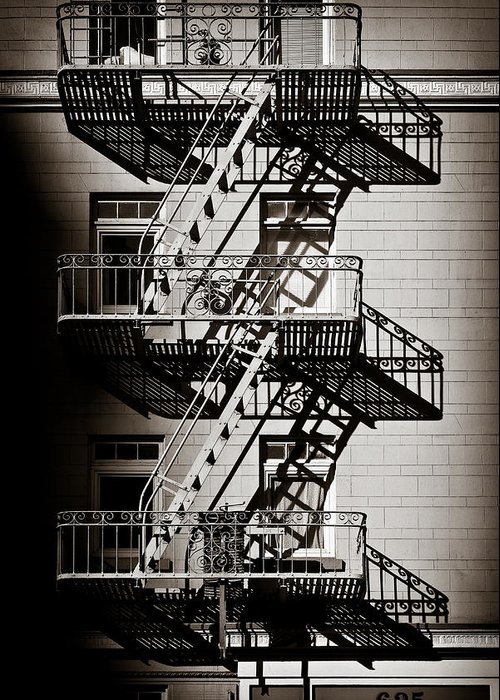 Fire Escape Greeting Card featuring the photograph Escape by Dave Bowman