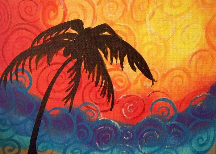 Colorful Greeting Card featuring the painting Escape by Patti Spires Hamilton
